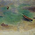 A Boat In The Waters Off Capri by Kathy Przepadlo