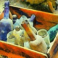 A Box Of Antique Bottles by Barbara Snyder