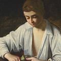A Boy Peeling Fruit  by Michelangelo Caravaggio