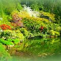 A Bright Garden by Maro Kentros