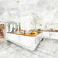 A Bright White Kitchen by Anthony Murphy