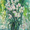 A Bunch Of Orchid Paintings by Zhang Chongqing