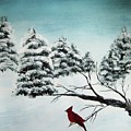 A Cardinals Perch by Katie Slaby