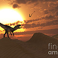 A Carnivorous Allosaurus Calling by Mark Stevenson