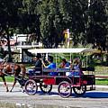 A Carriage Ride Through The Streets Of Katakolon Greece by Richard Rosenshein
