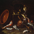 A Cat Stealing Fish by Giuseppe Recco