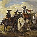 A Cavalry Skirmish by Joseph Parrocel