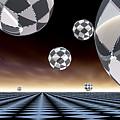 A Checkered Past by Sandra Bauser Digital Art