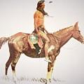 A Cheyenne Brave by Frederic Remington