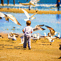 A Child At The Beach Isle Of Palms Sc by Gary Nelson