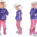 A Childs Pose by Kathleen McElwaine