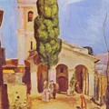 A Church At Cagnes by Renoir PierreAuguste