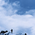 A Climber On The Airy Traverse by Bill Hatcher
