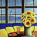 A Coastal Window Lighthouse View by Patricia L Davidson