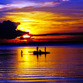 A Colorful Golden Fishermen Sunset Vertical Print by James BO  Insogna