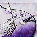 A Cool Purple Guitar by Anthony Murphy
