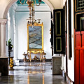 A Corridor In Keraton Sultan Palace Yogyakarta  by Charuhas Images