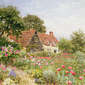 A Cottage Garden by Henry Sutton Palmer