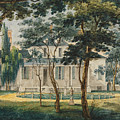 A Country Residence Possibly General Moreau's Country House At Morrisville Pennsylvania by Pavel Petrovich Svinin