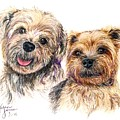 A Couple Of Yorkies by Karen Janelle