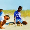 A Day On The Beach by Turhan Von Brandon