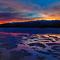 A Death Valley Sunset In The Badwater Basin by Kim Michaels