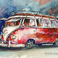A Deluxe 15 Window Vw Bus by Michael David Sorensen