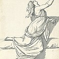 A Distraught Woman With Her Head Thrown Back by Jacques-louis David