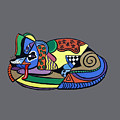 A Dog Named Picasso T-shirt by Anthony Falbo