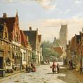 A Dutch Street In Summer by Willem Koekkoek