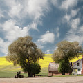 A Farmhouse Against A Dramatic Sky. by Usha Peddamatham