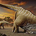 A Female Apatosaurus Laying Her Eggs by Mohamad Haghani