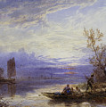 A Ferry At Sunset by Myles Birket Foster