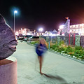 A Fish And A Girl, Hampton Beach, Nh #110529 by John Bald