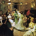 A Flamenco Party At Home by Francis Luis Mora