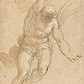A Flying Angel by Jacopo Palma Il Giovane