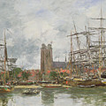A French Port by Eugene Louis Boudin