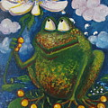 Frog In The Rain by Rita Fetisov