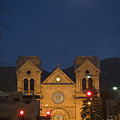 A Full Moon Rises Over  Cathedral by Stephen St. John
