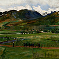 A Funeral Day In Jolster by Nikolai Astrup