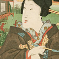 A Geisha With A Pipe by Utagawa Kunisada