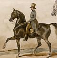 A Gentleman On Horseback With A Subsidiary Study Of The Horse's Head by Theodore Gericault