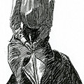A Gibson Girl With Parasol by Charles Dana Gibson