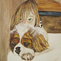 A Girl And Her Puppy by Tabitha Marshall