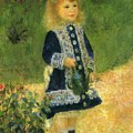 A Girl With A Watering Can 1876 by Renoir PierreAuguste