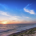 A Glorious Sunset At North Ponto, Carlsbad State Beach by David Levin