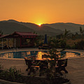 A Golden Sunset In Loas by Nathaniel H Broughton