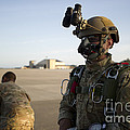 A Green Beret Waits To Have His Gear by Stocktrek Images