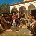 A Gypsy Dance In The Gardens Of Alcazar by Mountain Dreams