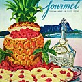 A Hawaiian Scene With Pineapple Slices by Henry Stahlhut